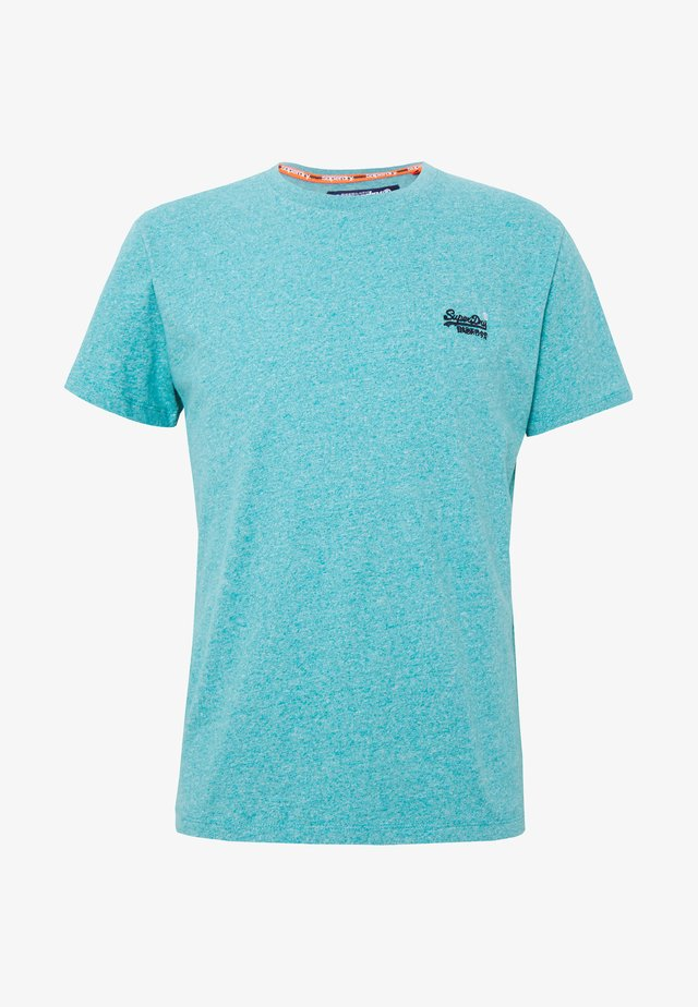 VINTAGE EMBROIDERY TEE - Print T-shirt - turquoise grit