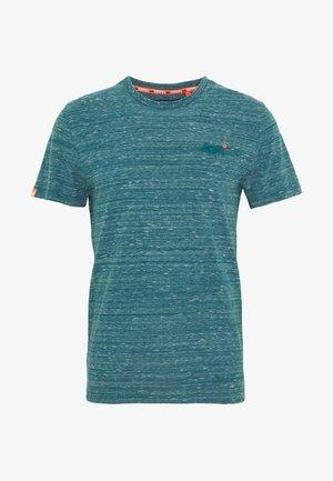 VINTAGE EMBROIDERY TEE - T-shirt print - deep teal space