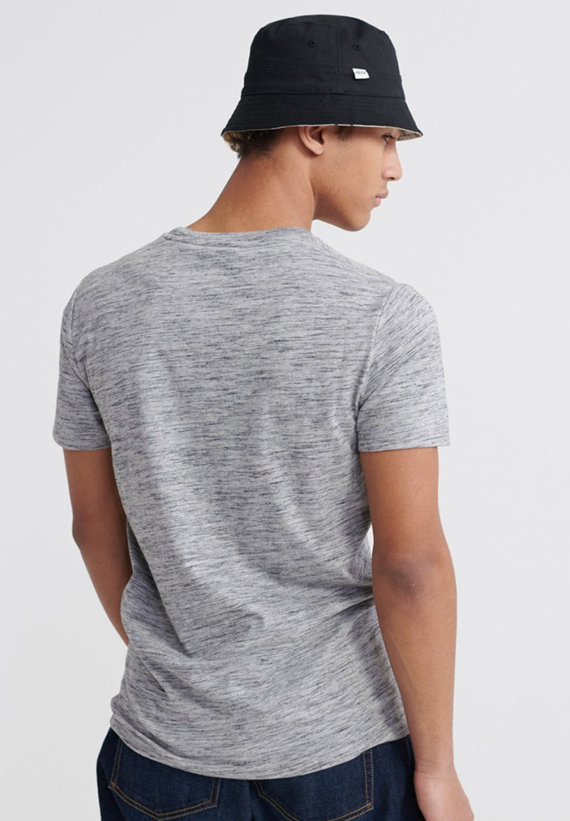 Superdry Pasteline Tee - T-shirt Con Stampa Carbon Grey Space Dye EN10edG
