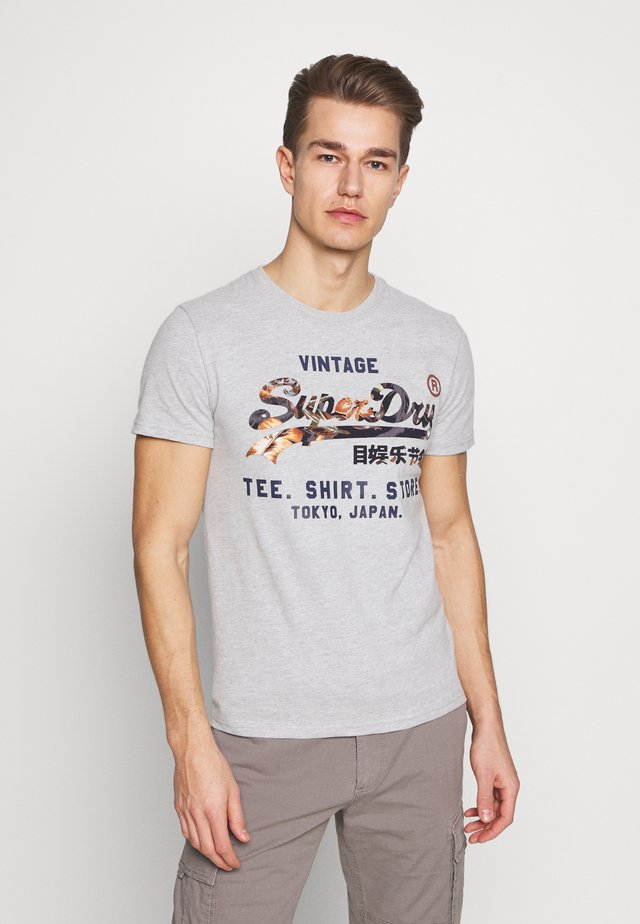 INFILL STORE TEE - T-shirt con stampa - grey marl