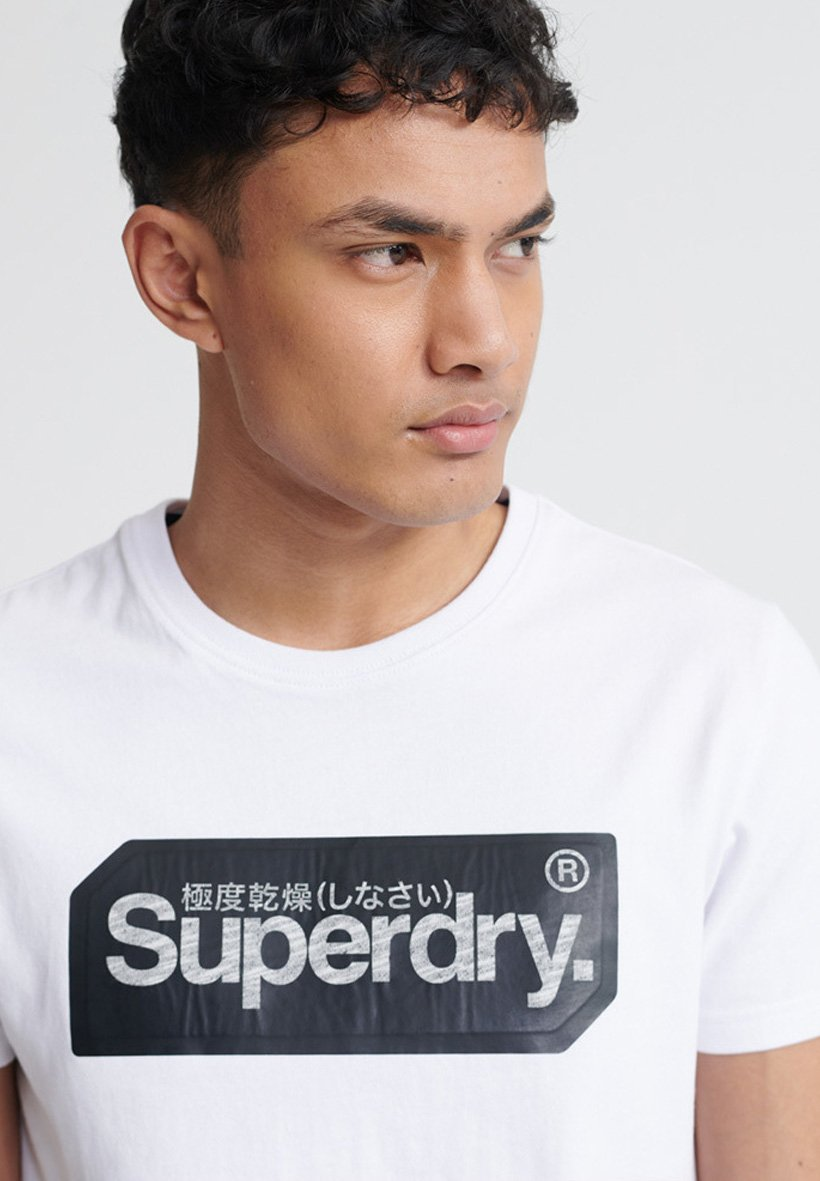 Superdry Core Logo Tag T-shirt - Con Stampa White pGC4QUI
