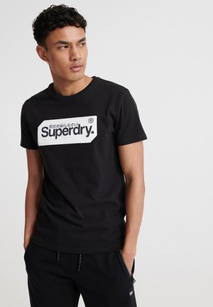 SUPERDRY CORE LOGO TAG T-SHIRT - T-Shirt print - black