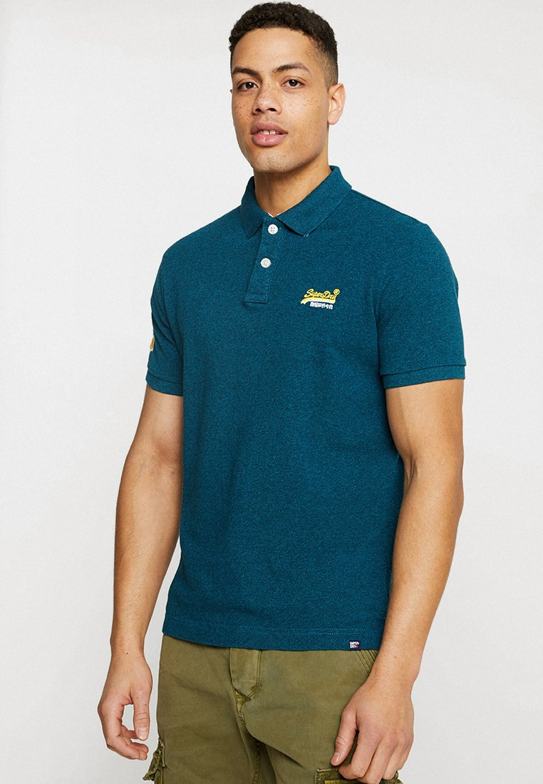 Superdry - CLASSIC - Polo - peacock green grit