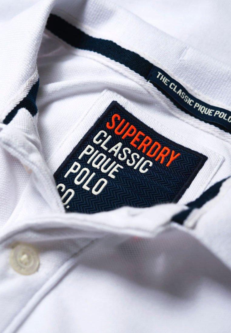 Superdry MIT KURZEN ÄRMELN - Koszulka polo - white