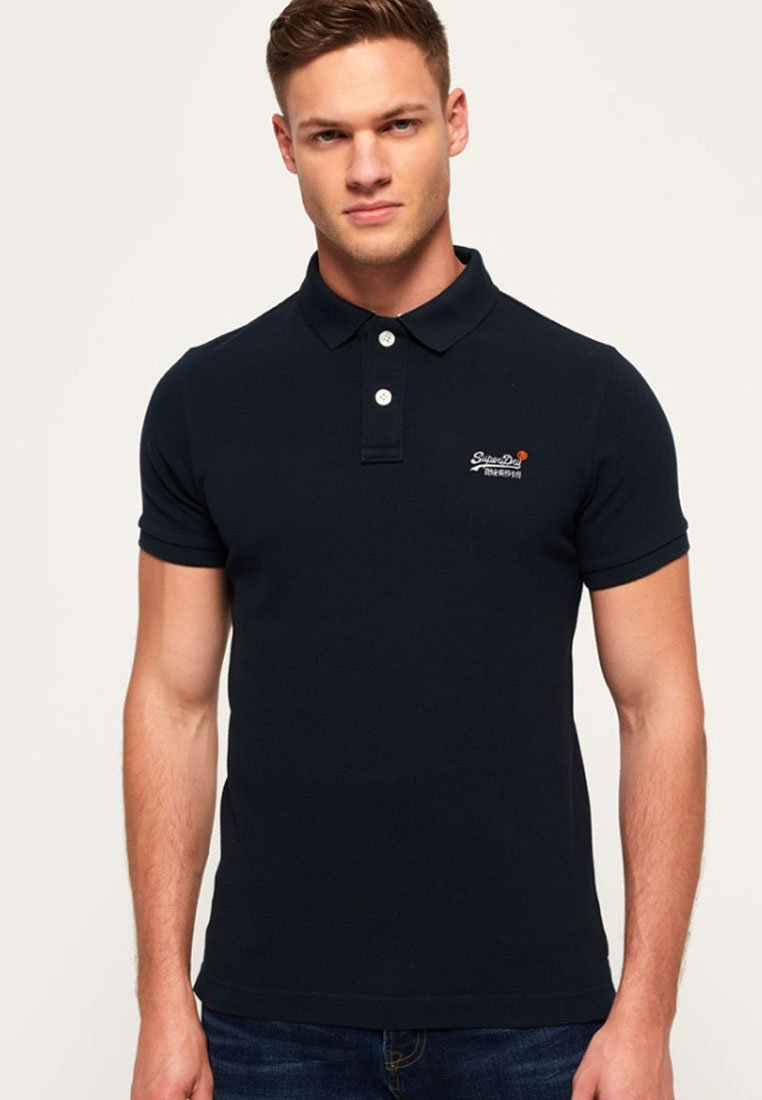 Superdry - MIT KURZEN ÄRMELN - Polo - dark navy blue
