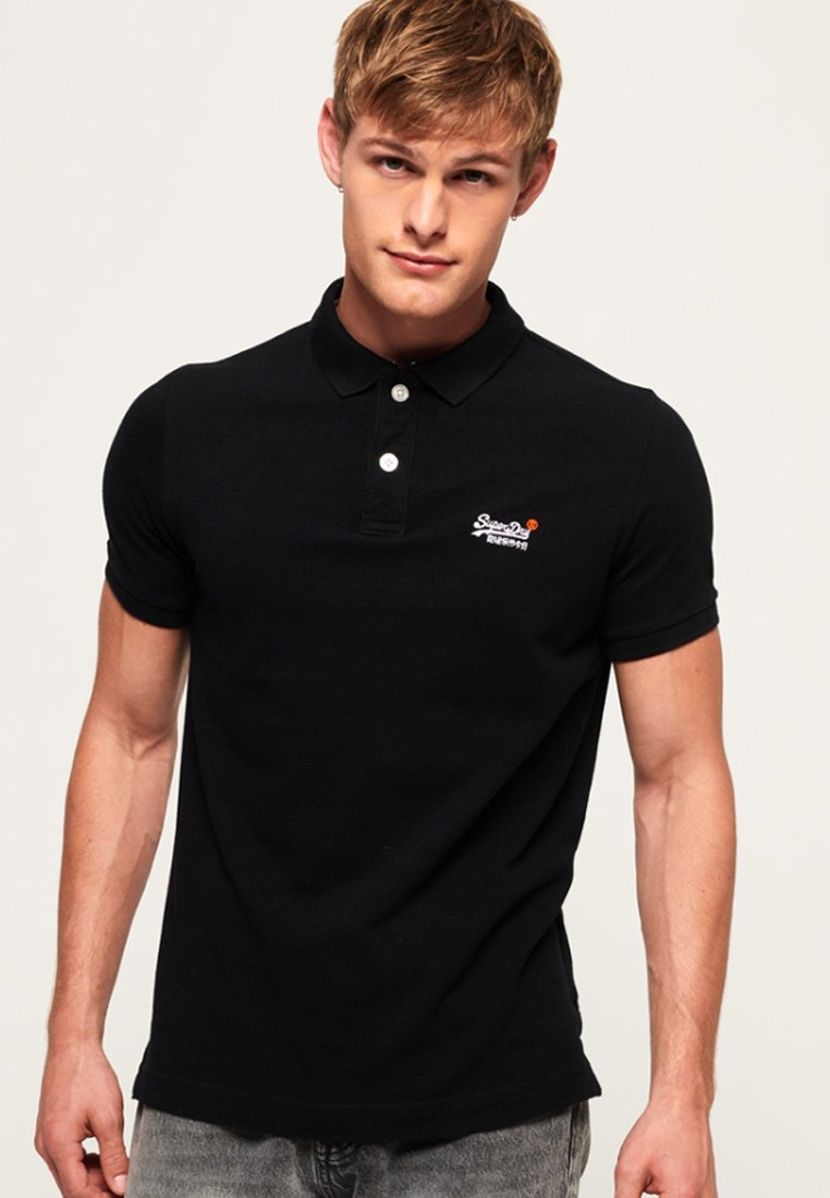 Superdry - MIT KURZEN ÄRMELN - Polo shirt - black