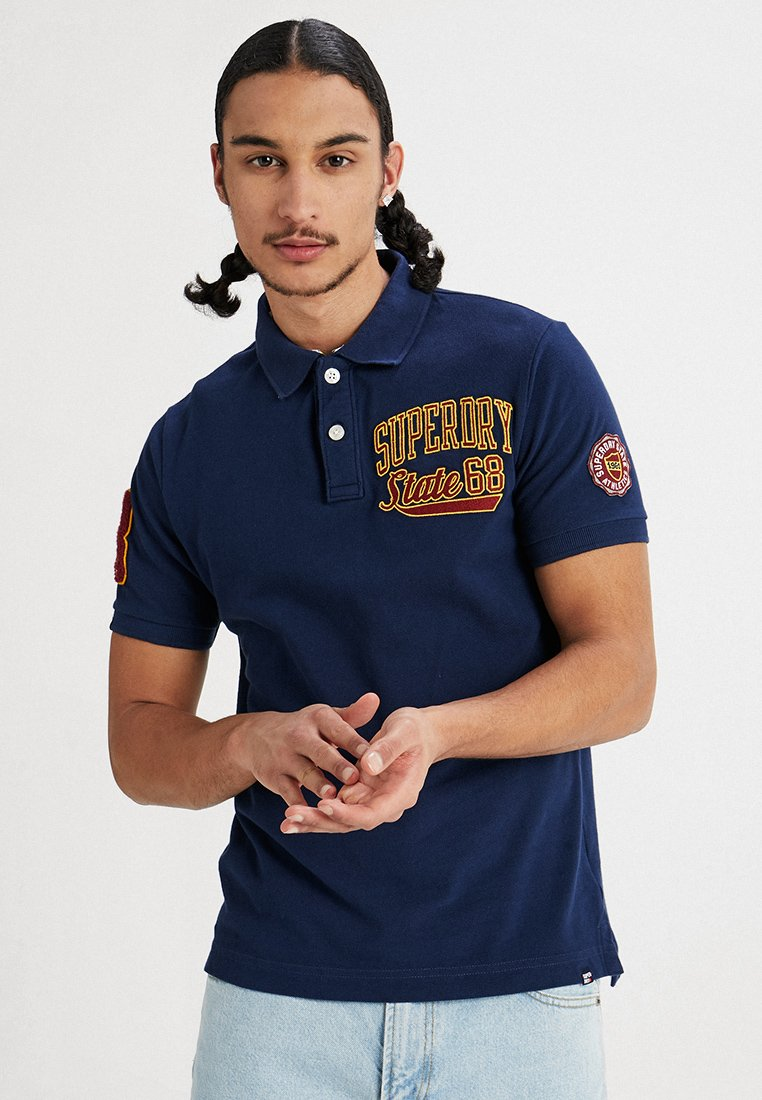 Superdry - CLASSIC SUPERSTATE  - Polo shirt - sport navy