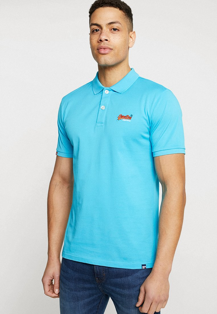 Superdry - MERCERISED LITE CITY - Polo - turquoise