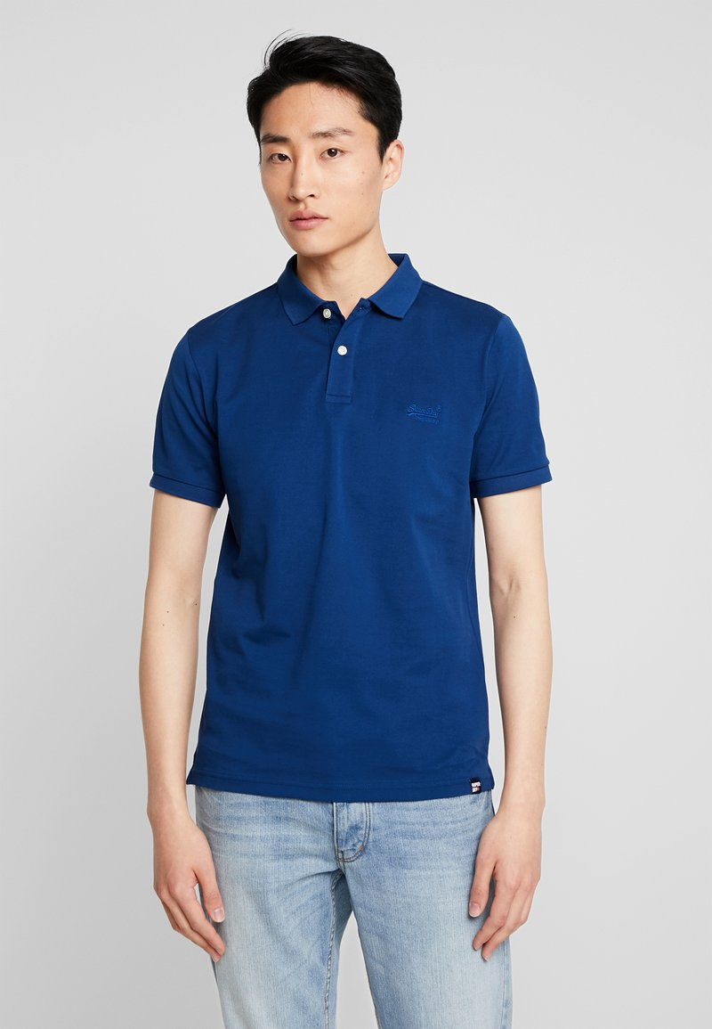 Superdry - CLASSIC MICRO - Polo - pilot mid blue