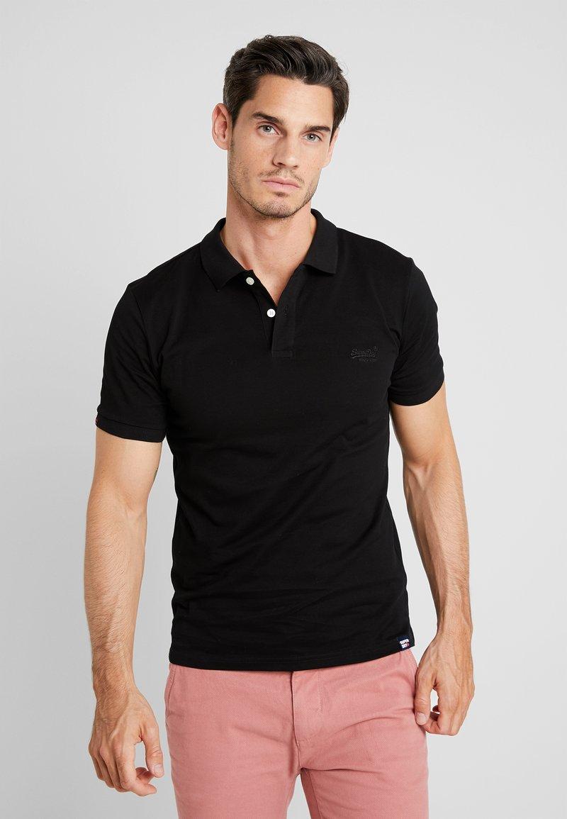 Superdry - CLASSIC MICRO - Poloshirts - black