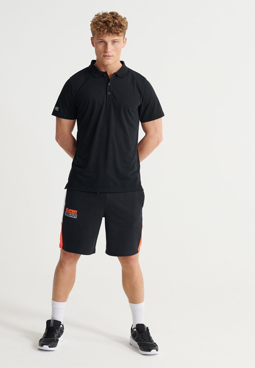 Superdry Training Polo Shirt - Piké Black