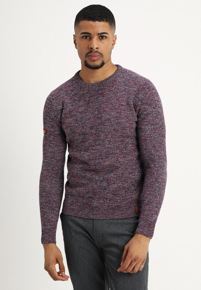 Superdry - UPSTATE CREW - Strickpullover - rich berry mix