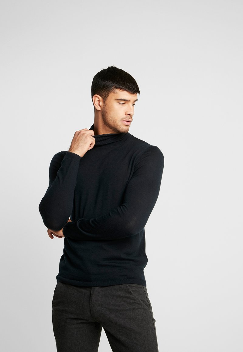 Superdry - EDIT ROLL NECK - Pullover - nightwatch black