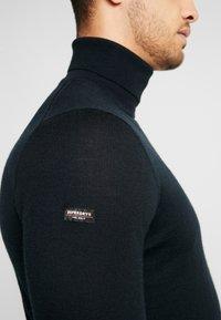 Superdry - EDIT ROLL NECK - Pullover - nightwatch black - 5