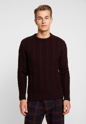 JACOB CREW - Strikpullover /Striktrøjer - bright buck burgundy twist