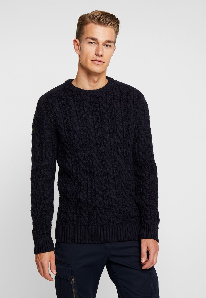 Superdry - JACOB CREW - Maglione - downhill navy