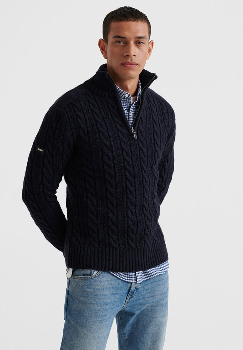 Superdry JACOB - Sweter - blue
