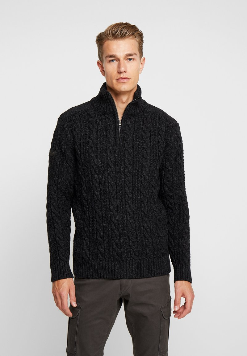 Superdry - JACOB - Pullover - magma black twist