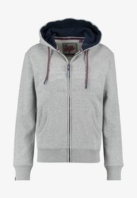 Superdry - DOWNHILL RACER APP ZIPHOO - Sweatjacke - grey - 0