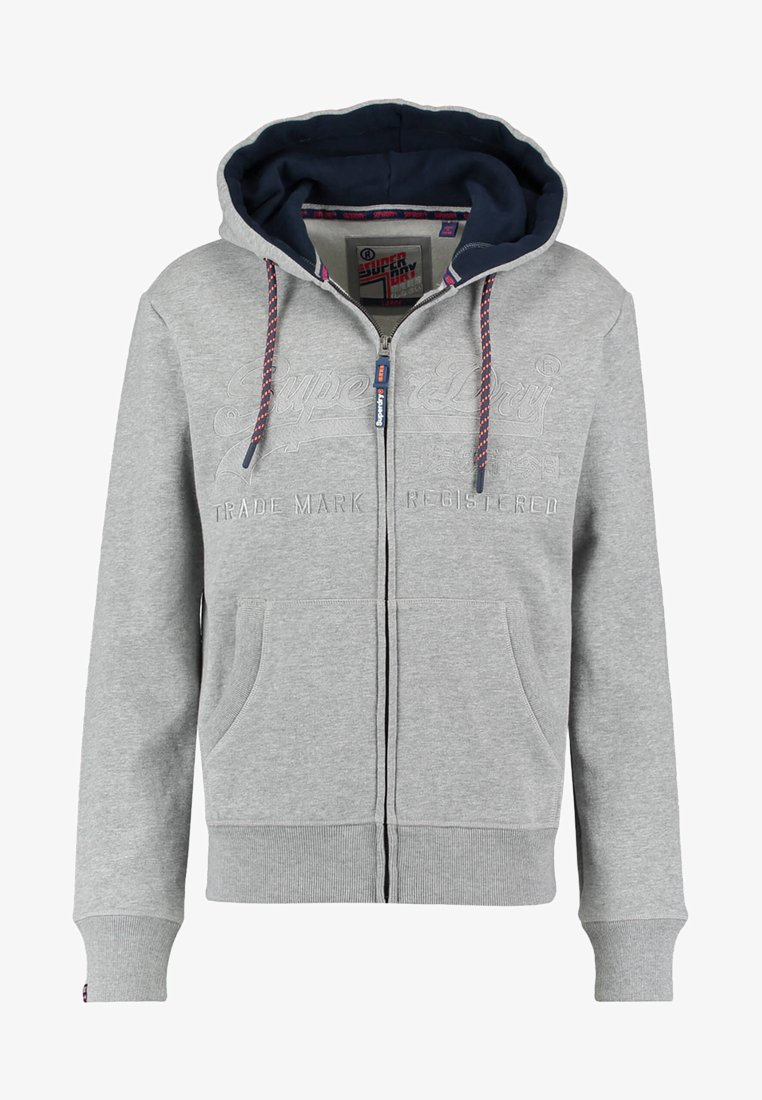 Superdry - DOWNHILL RACER APP ZIPHOO - Sweatjacke - grey