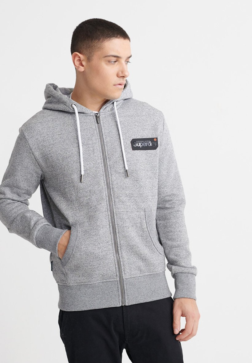 Superdry Bluza rozpinana - grey grit