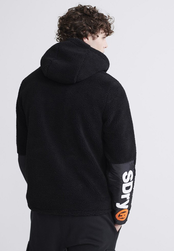 Superdry Celsius Sherpa - Fleecejas Black