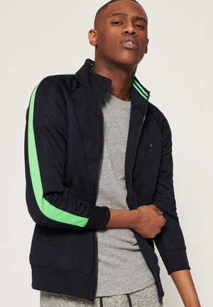 LINEMAN - Sweatjacke - navy blue circuit / lime green