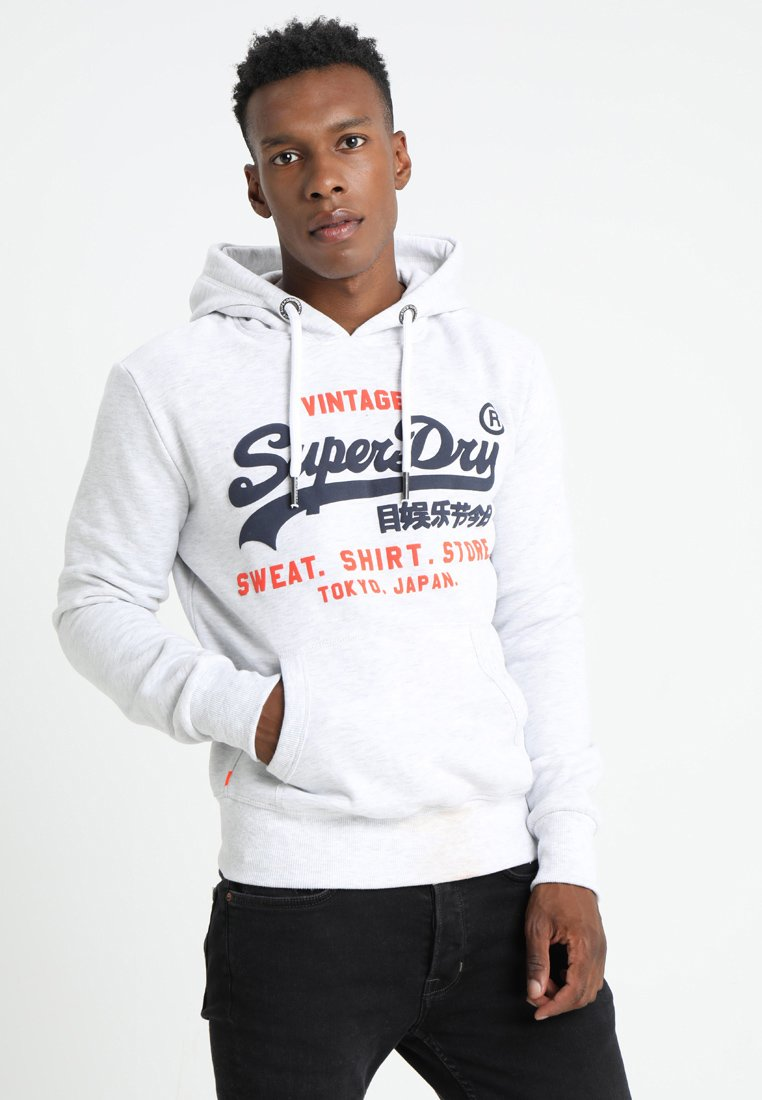 Superdry - SHOP DUO HOOD - Kapuzenpullover - ice marl