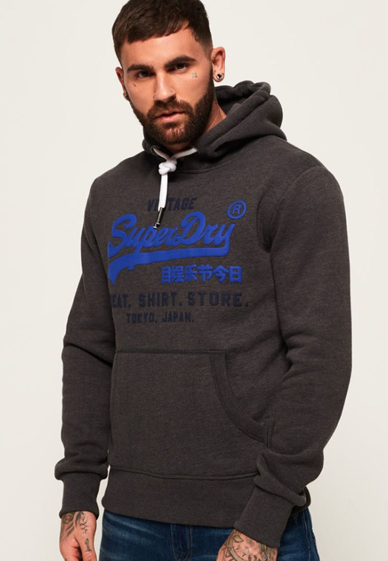 Superdry - SHOP DUO HOOD - Hoodie - dark grey
