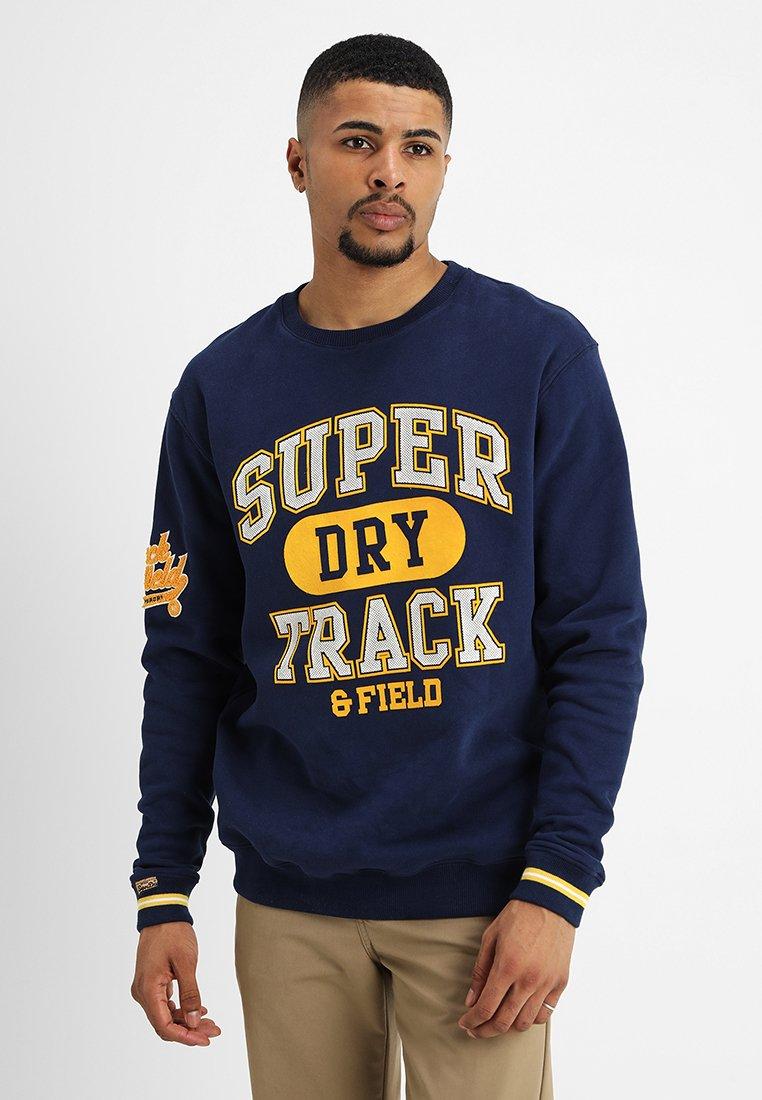 Superdry - SPLIT TRACK OVERSIZED CREW - Sweatshirt - tin tab navy