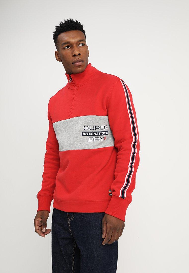Superdry - APPLIQUE COLOUR BLOCK - Sweatshirt - panel red