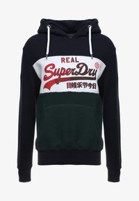 Superdry - VINTAGE LOGO 1ST PANEL HOOD - Hoodie - eclipse navy/ice marl - 3