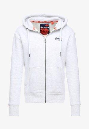 LABEL ZIPHOOD - Zip-up hoodie - ice marl
