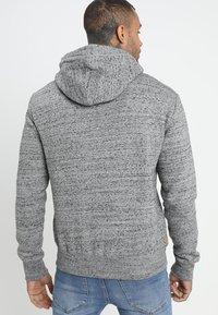 Superdry - LABEL ZIPHOOD - Bluza rozpinana - flint grey grit - 2