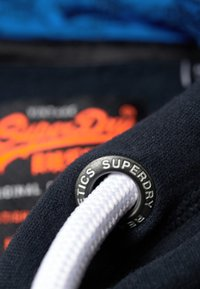 Superdry - STORE PANEL HOOD - Luvtröja - blue - 4