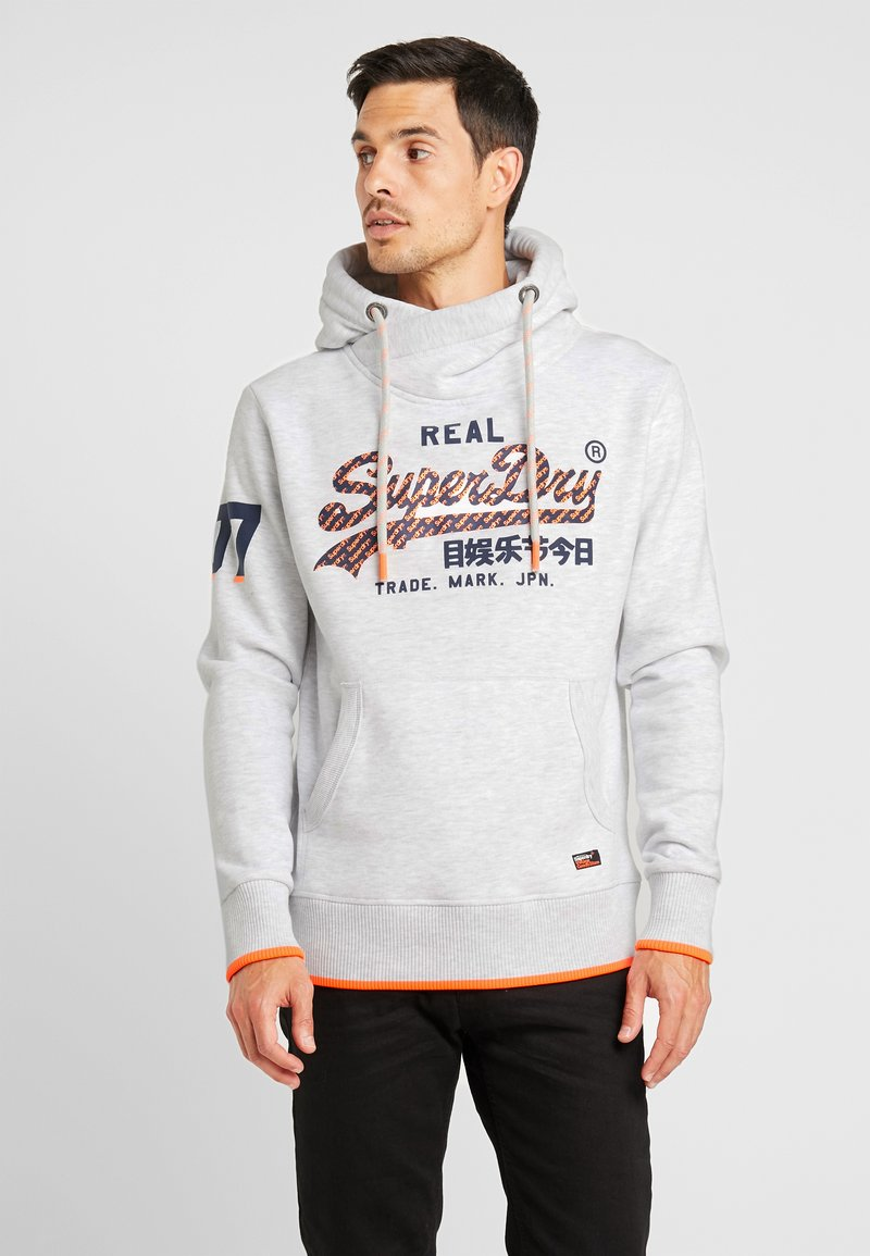 Superdry - VINTAGE LOGO NEON TIP HOOD - Sweat à capuche - ice marl