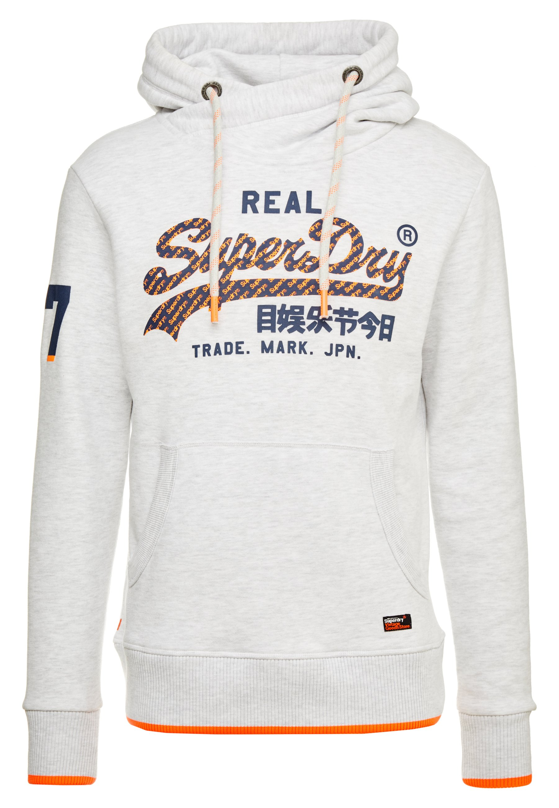 Superdry Vintage Logo Neon Tip Hood - Luvtröja Ice Marl