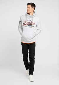 Superdry - VINTAGE LOGO NEON TIP HOOD - Sweat à capuche - ice marl - 1