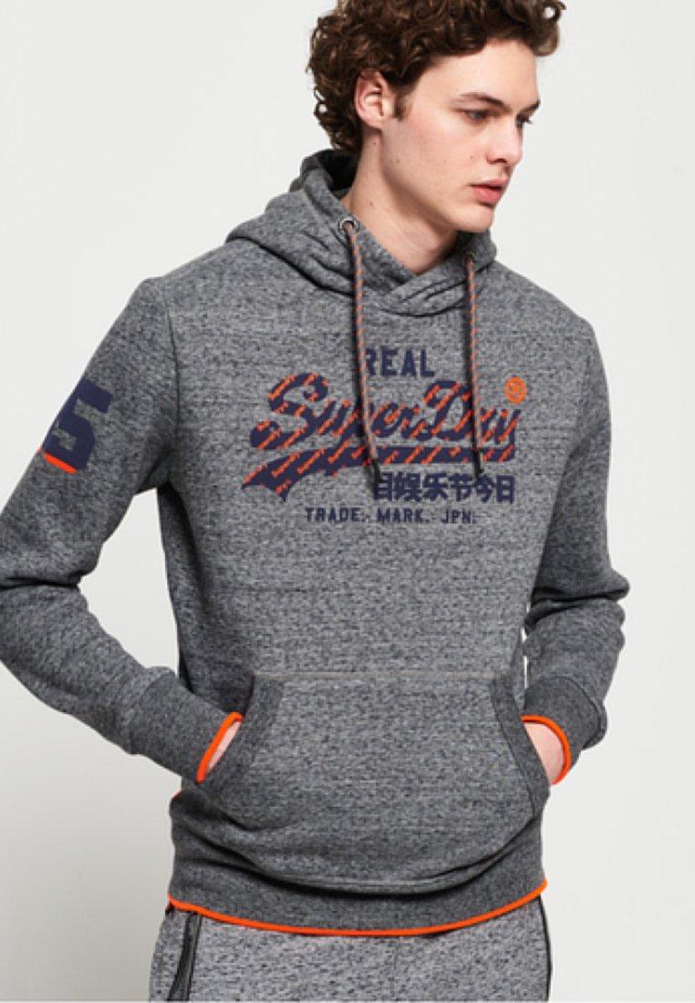 Mottled Dark Logo Capuche Vintage À Superdry Grey Tip HoodSweat I7mgyYbvf6