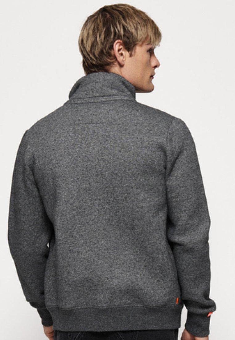 Sweat Grey Superdry LabelVeste En Orange Zippée cRj43ALq5