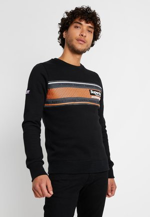 RETRO STRIPE CREW - Sweatshirt - black