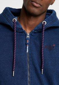 Superdry - LABEL CLASSIC ZIP HOOD - Bluza rozpinana - dark wash indigo - 5