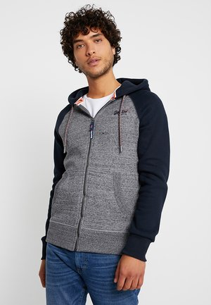 ORANGE LABEL RAGLAN ZIP HOOD - Hoodie met rits - flint grey grit