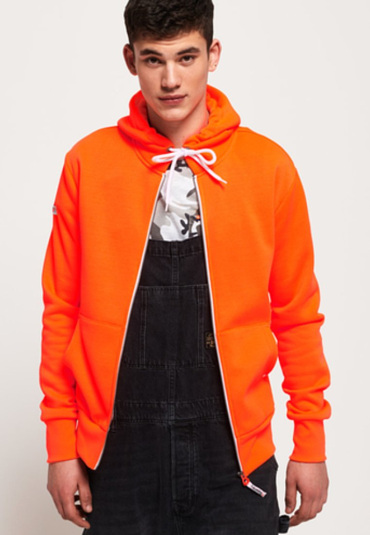 Superdry - LA ATHLETICS - Hoodie met rits - orange