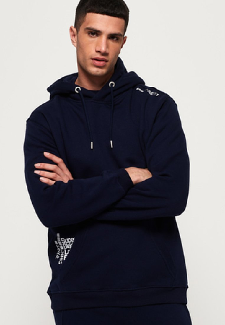 Superdry - BLACK LABEL  - Kapuzenpullover - navy blue