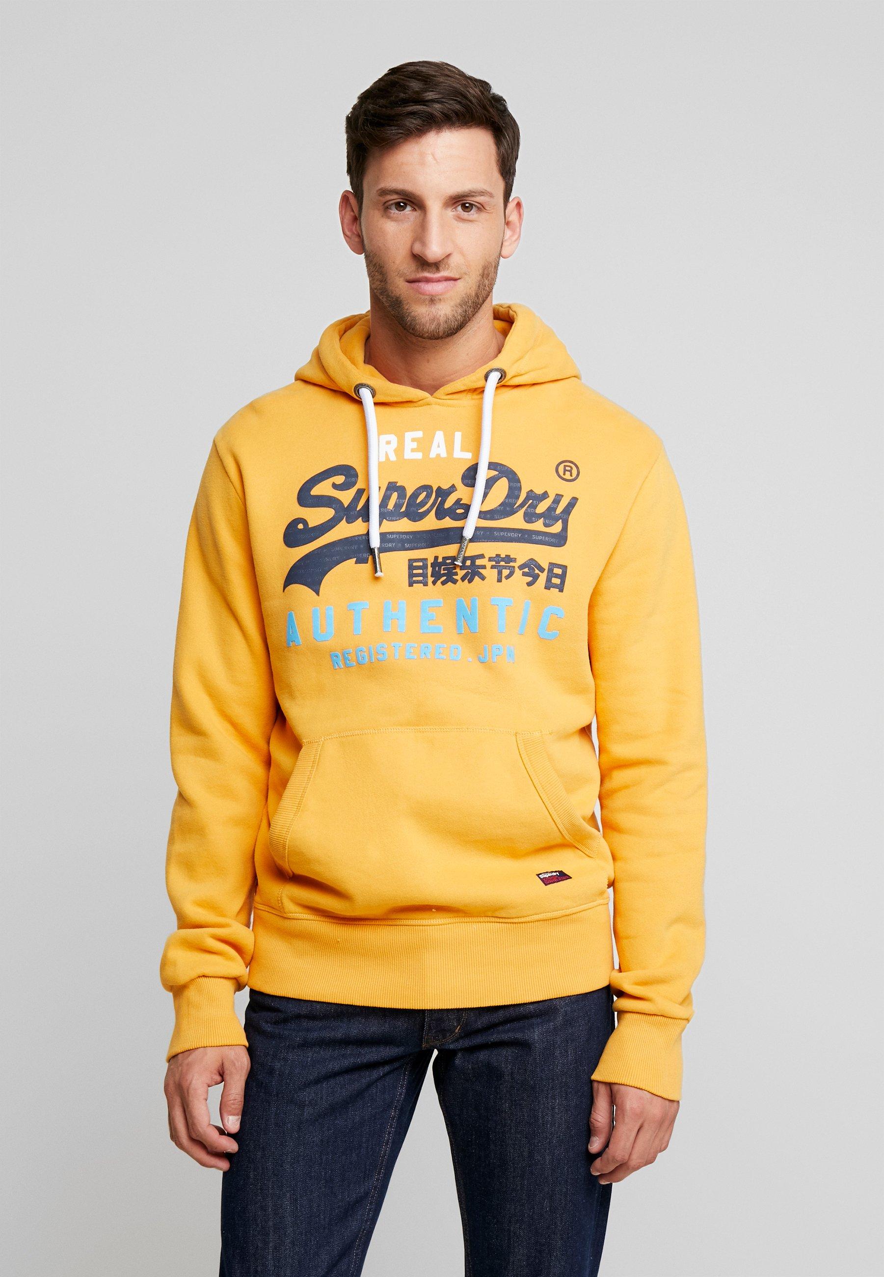 Superdry AUTHENTIC HOOD - Bluza z kapturem - golden yellow