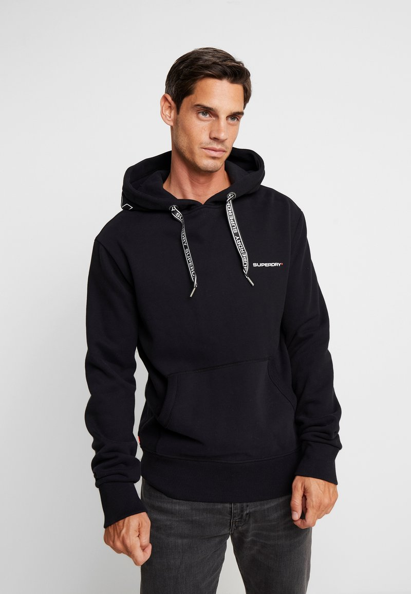 Superdry - URBAN ATHLETIC HOOD - Hoodie - black