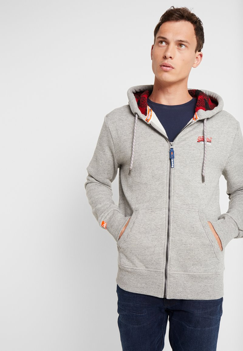 Superdry - Bluza rozpinana - jasper grey grindle