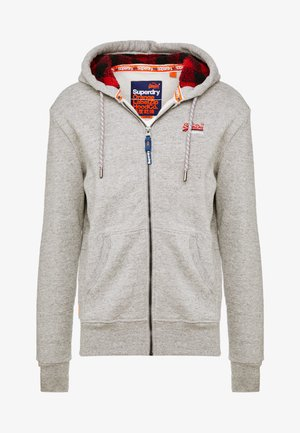 Zip-up hoodie - jasper grey grindle