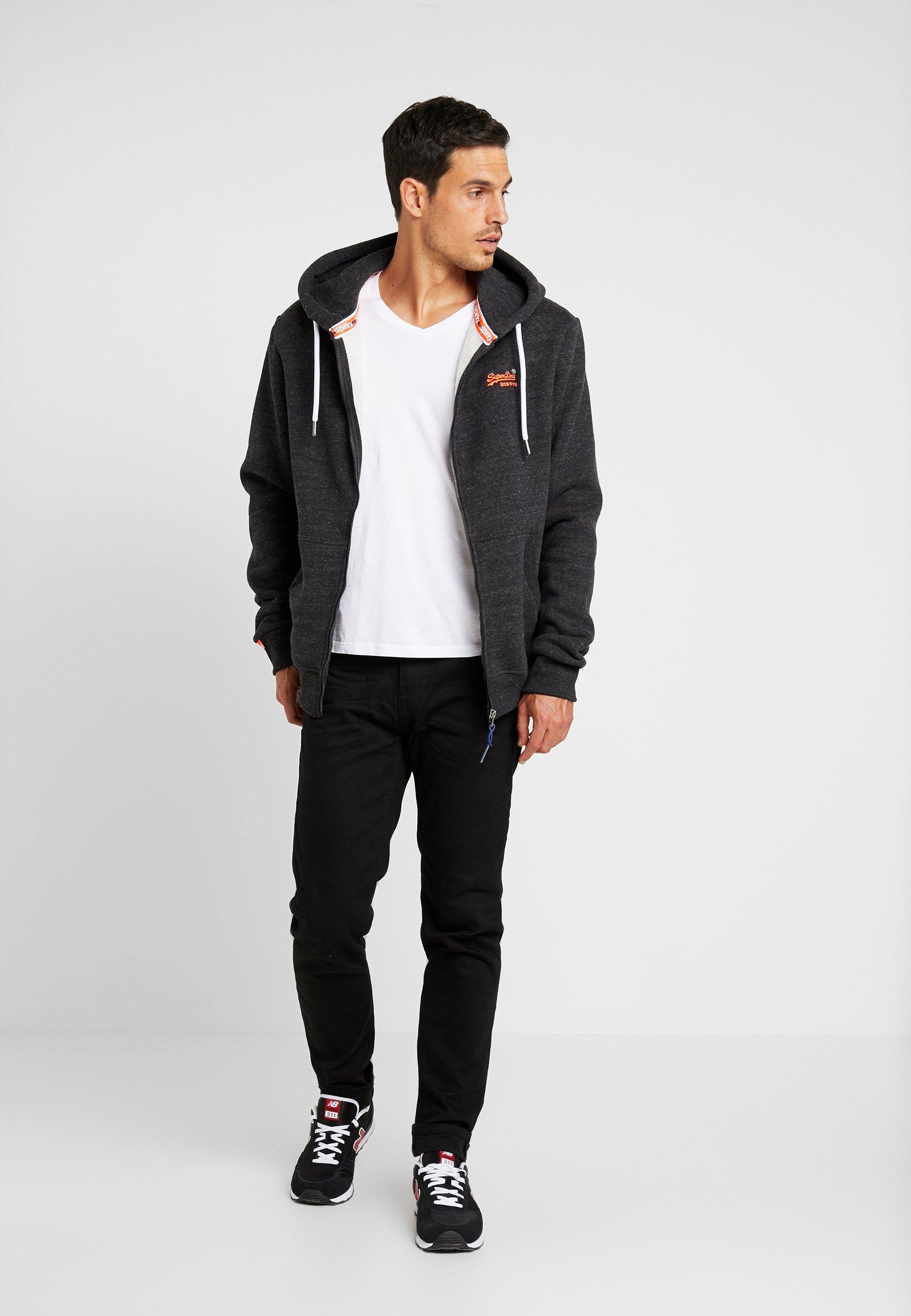 ORANGE LABEL CLASSIC ZIPHOOD veste en sweat zippée nightshade black marl